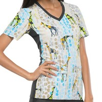 Buy Cherokee Women's Safari So Good V-Neck Knit Panel Top for $21.45