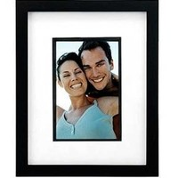 Malden Parker Black Wood Matted Frame with Black Wood Insert, with Mat 5 by 7-Inch, without Mat, 8 by 10-Inch