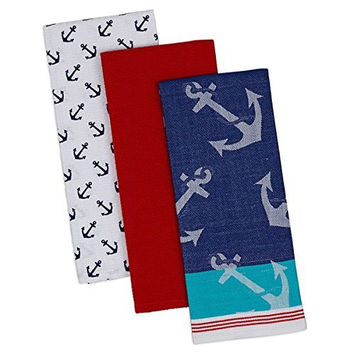 Anchors Away Dishtowels - Set of 3