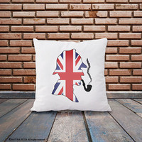 Sherlock Holmes pillow cover-Sherlock pillow-home decor-british pillow-UK flag pillow-decorative pillow-Christmas gift-NATURA PICTA-NPCP067
