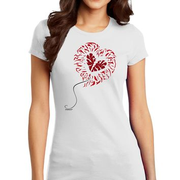 Broken Heart Popped Red Heart Balloon Juniors T-Shirt