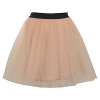 Petites Peach Net Tutu Skirt - Skirts  - Apparel