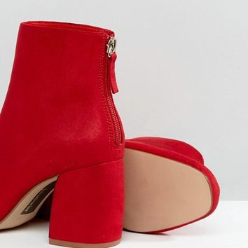 Stradivarius Block Heel Ankle Boot at asos.com