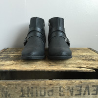 A Buckle Bootie in Black