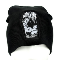 Graveyard Coffin Beanie 70s Prog Clothing Knit Cap