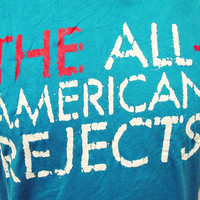 Retro All American Rejects Indie Emo Rock Band T-Shirt Medium