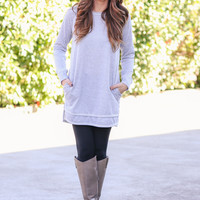 Stand By Me Tunic -  Grey