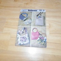 Butterick 3873 Fashion Handbags Pattern 6 designs Used