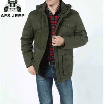 M~5XL 2017 Autumn Winter Brand Cargo Fleece Thicken Jackets Coats Men Casual Cotton Hooded New Arrival Russia Plus Size Jackets