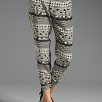 Parker Ruched Bottom Pants in Mosaic from REVOLVEclothing.com