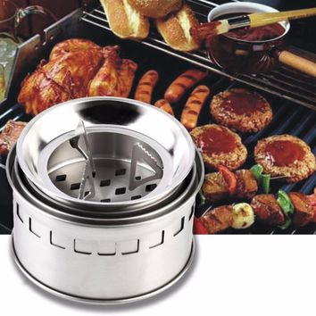 Alcohol Burning Stainless Steel Camping Stove