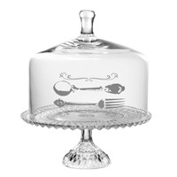 Fork Spoon Glass Beaded Cake Stand