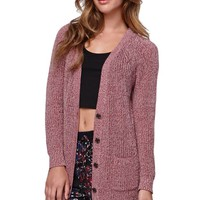 LA Hearts Button Front Cardigan - Womens Sweater