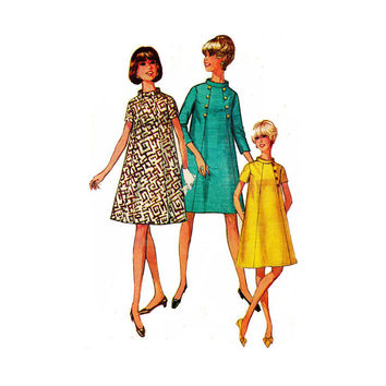 "1960's Simplicity 7494 Woman's Maternity A-Line Dress Size 16 || Bust 38""/ 97cm 