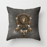 DreamCatcher Throw Pillow by Paula Belle Flores