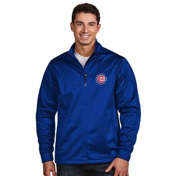 Chicago Cubs Antigua Golf Full-Zip Jacket - Royal