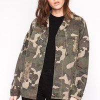 Button Up Military Jacket