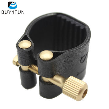 Compact Durable Ligature Fastener for Alto Sax Saxophone Rubber Mouthpiece Artificial Leather Musical Instrument Accessories