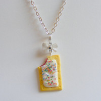 Toasted Tart Miniature Food Necklace Pendant - Miniature Food Jewelry