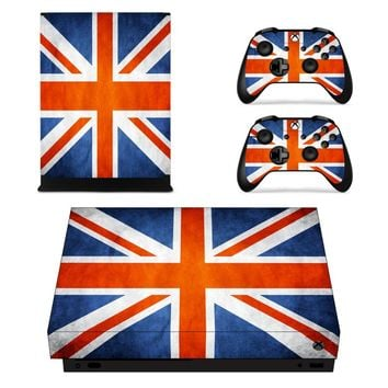 X0060 Game accessories Skin Sticker for Microsoft Xbox One X Console and 2 Controllers skins Stickers for XBOXONE X Enhanced
