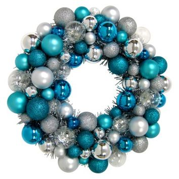 Arctic Luster Shatterproof Ornament Wreath