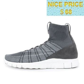 Original 2018 Nike Free Flyknit Mercurial Superfly SP Wolf Grey White shoes