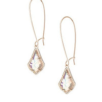 Kendra Scott Lori Earrings- Iridescent Peach