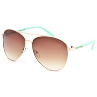 Full Tilt Arrow Aviator Sunglasses Gold One Size For Women 25741562101