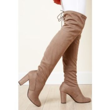 Legs For Days Taupe Over The Knee Boots