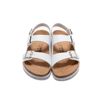 Birkenstock New Style 3 Summer Fashion Leather Cork Flats Beach Lovers Slippers Casual