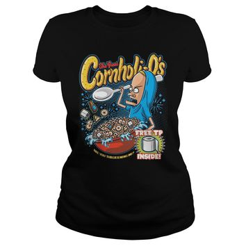 The Great Cornholio are you threatening me Beavis and Butthead  Classic Ladies Tee