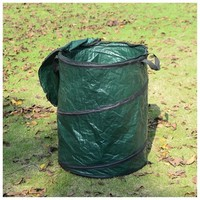 Collapsible Outdoor Campsite Pop Up Trash Can, Green