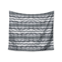 "Empire Ruhl ""51 Shades of Gray"" Gray White Wall Tapestry"
