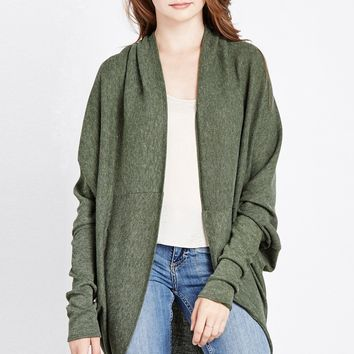 Olive Heathered Double Duty Sweater