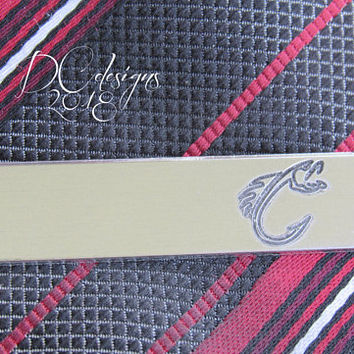 Fishing, Fly Fishing, Fish, Personalised Gift, Personalized, Tie Bar, Tie Clip, Gift for Him, Custom, Engraving, Brother Gift