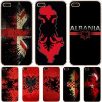 Albania Flag Transparent Hard Thin Case Cover For Apple iPhone 4 4S 5 5S SE 5C 6 6S 7 8 X Plus
