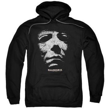 HALLOWEEN II/MASK - ADULT PULL-OVER HOODIE - Black -