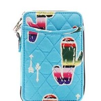 Quilted Wristlet Wallet Cactus Print