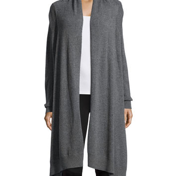 Long-Sleeve Cashmere Blanket Cardigan, Size: