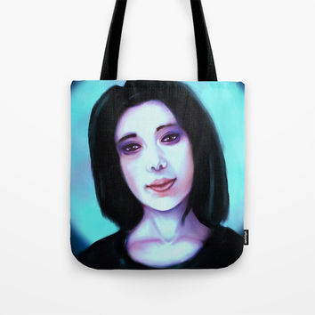 Blue Tote Bag by Moonlit Emporium