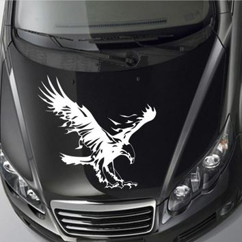 Funny Auto  Sticker  Car Window  and Hood Reflective Waterproof Vinyl  Cool Eagle Cartoon Simple Styling Accessories Man Black