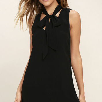 Lucy Love Start Fresh Black Shift Dress