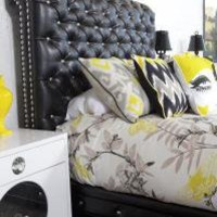 www.roomservicestore.com - Chesterfield in Faux Black Leather