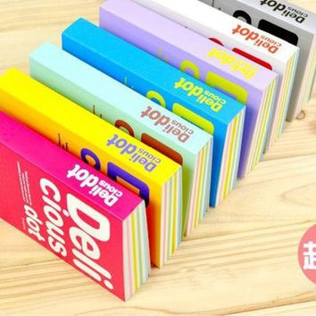 DCCKL72 1 PCS Thickening Sketchbook Notebook Color Stripes 150 Sheets Deli Cious Dot Notepad Diary School Office Stationery