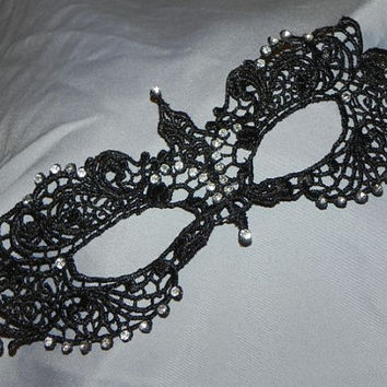 Black and Clear Soft Lace Masquerade Mask - Lightweight and Comfortable