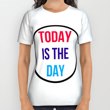 TODAY IS THE DAY All Over Print Shirt by Love from Sophie