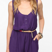 Urban Outfitters - Pins and Needles Silky Open Back Romper