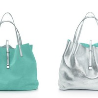 Tiffany & Co. | Item | Reversible tote in suede and metallic leather, small. More colors available. | United States