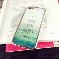 I CHOOSE TO BE HAPPY Case for iPhone