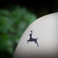 Temporary Tattoo - Deer Tattoo - Woodland, Nature, Animal Tattoo